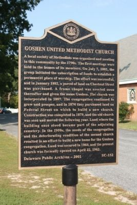 Goshen United Methodist Church Marker image. Click for full size.