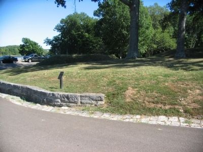 Marker with Mounds in the Background image. Click for full size.