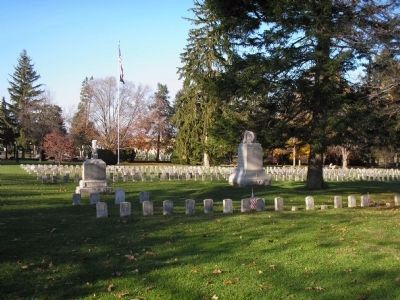 Memorials in Antietam National Cemetery image. Click for full size.