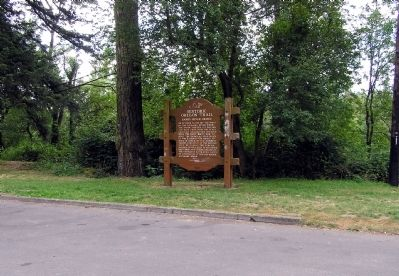 Wide View of the Sandy River Bridge Marker image. Click for full size.