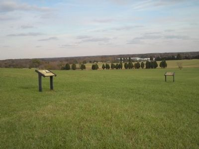 Markers on the Manassas Battlefield image. Click for full size.
