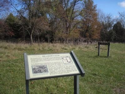 Marker on the Manassas Battlefield image. Click for full size.