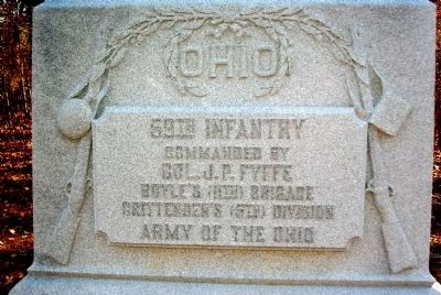 59th Ohio Infantry Marker image. Click for full size.