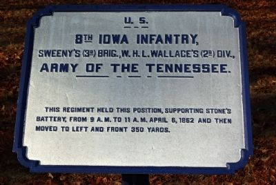 8th Iowa Infantry Marker image. Click for full size.