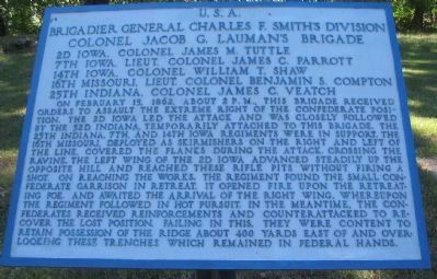 Lauman's Brigade Tablet image. Click for full size.