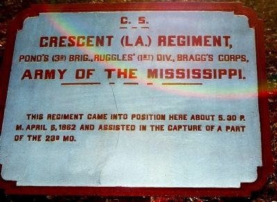 Crescent (La.) Regiment Marker image. Click for full size.