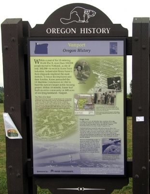 Vanport Marker image. Click for full size.