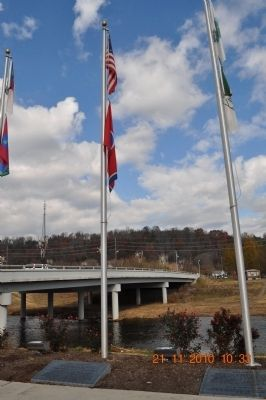 State of Tennessee Flag and Sevier County Flag image. Click for full size.