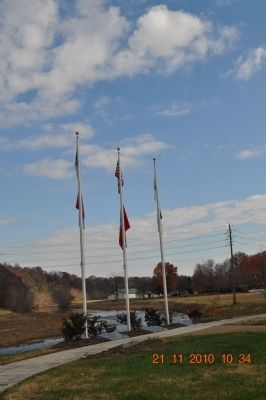 All three flags along the Little Pigeon River image. Click for full size.