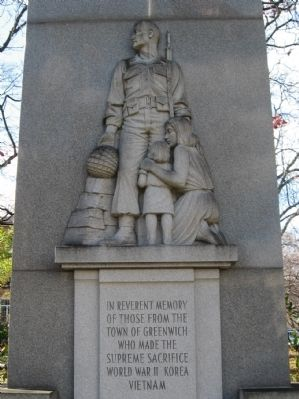 Greenwich Veterans Monument image. Click for full size.