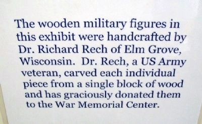 Rech Carvings Exhibit In War Memorial Center image. Click for full size.