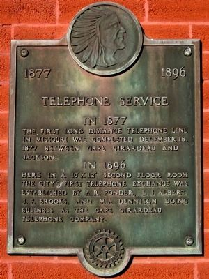 Telephone Service 1877 - 1896 Marker image. Click for full size.