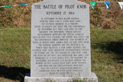 The Battle of Pilot Knob Marker image. Click for full size.
