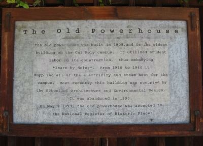 The Old Powerhouse Marker image. Click for full size.