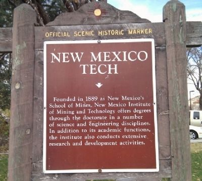 New Mexico Tech Marker image. Click for full size.