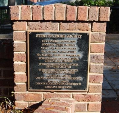 Sterling High School Memorial Marker -<br>Sterling Pride Society image. Click for full size.