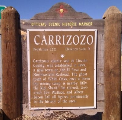 Carrizozo Marker image. Click for full size.