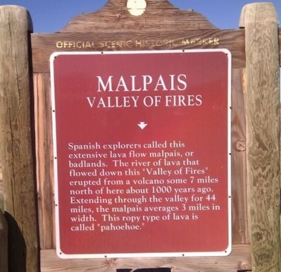 Malpais Marker image. Click for full size.