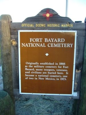 Fort Bayard National Cemetery Marker image. Click for full size.