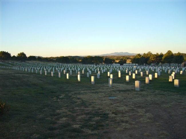 Fort Bayard National Cemetery image. Click for full size.
