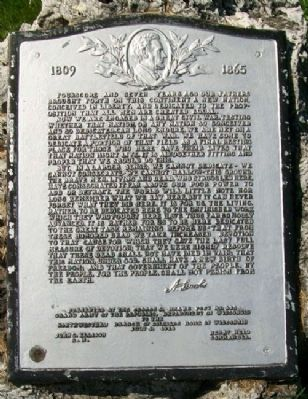 Lincoln's Gettysburg Address Marker image. Click for full size.