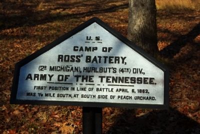 Ross's Battery Camp Marker image. Click for full size.