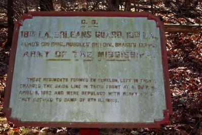 18th Lousiana - Orleans Guard - 16th Louisiana Marker image. Click for full size.