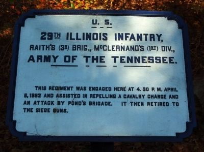 29th Illinois Infantry Marker image. Click for full size.