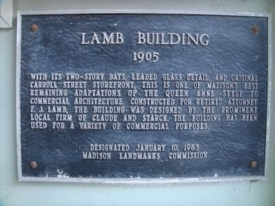 Lamb Building Marker image. Click for full size.
