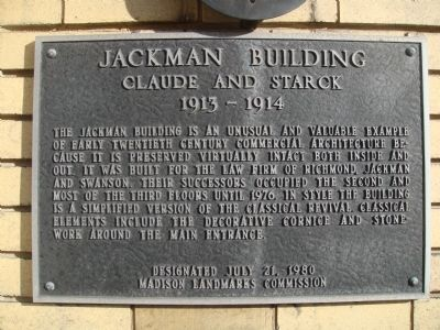 Jackman Building Marker image. Click for full size.