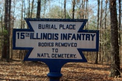 15th Illinois Infantry Burial Place Marker image. Click for full size.