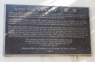 """Love"" and ""Double Joy"" Marker image. Click for full size."