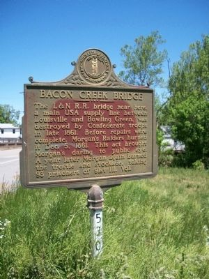 Bacon Creek Bridge Marker image. Click for full size.