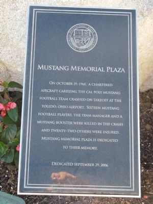 Mustang Memorial Plaza Marker image. Click for full size.