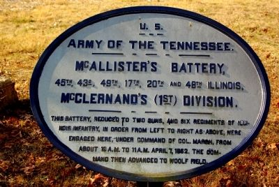 McAllister's Battery Marker image. Click for full size.