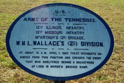12th Illinois Infantry - 13th Missouri Infantry Marker image. Click for full size.