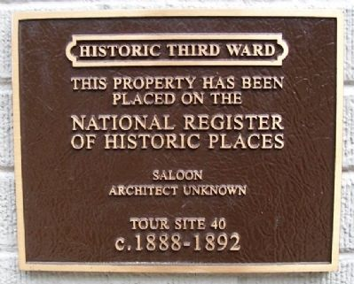 Saloon Marker image. Click for full size.