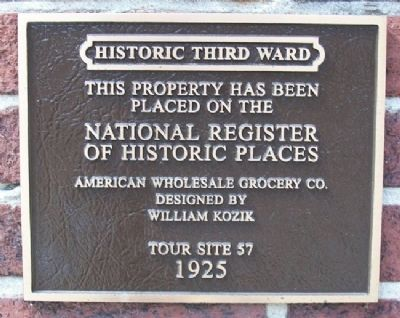 American Wholesale Grocery Company Marker image. Click for full size.