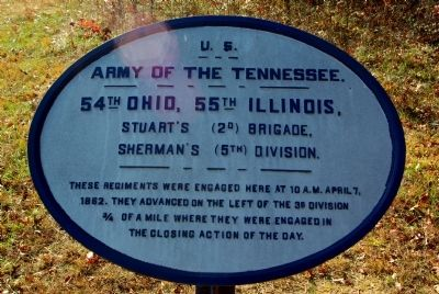 54th Ohio Infantry - 55th Illinois Infantry Marker image. Click for full size.