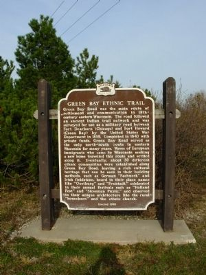 Green Bay Ethnic Trail Marker image. Click for full size.