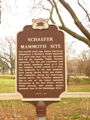 Schaefer Mammoth Site Marker image. Click for full size.