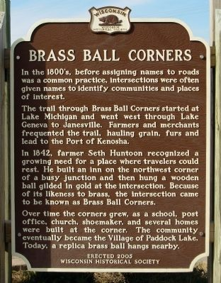 Brass Ball Corners Marker image. Click for full size.