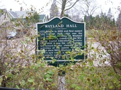 Wayland Hall Marker image. Click for full size.