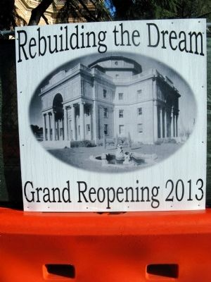 Signage Announcing Re-Opening in 2013 image. Click for full size.
