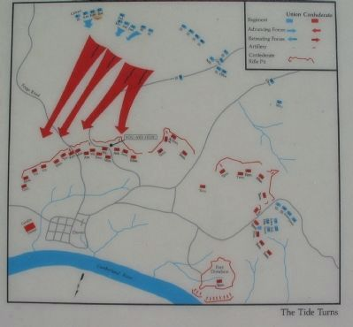 Battle Map Showing Confederate Retreat image. Click for full size.