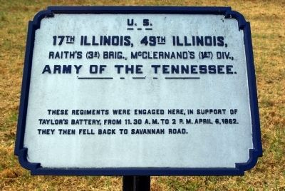 17th Illinois Infantry - 49th Illinois Infantry Marker image. Click for full size.