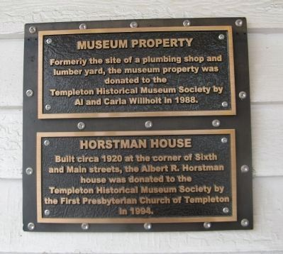 Museum Property / Horstman House Marker image. Click for full size.