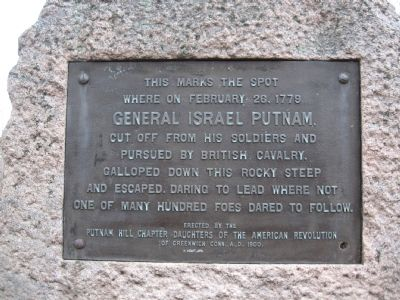Putnam's Escape Marker image. Click for full size.