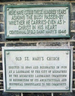Old St. Mary's Church Markers image. Click for full size.