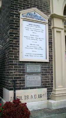 Old St. Mary's Church Markers & Cornerstone image. Click for full size.